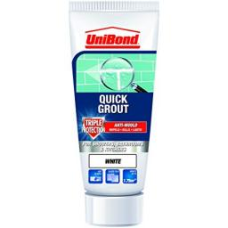 Unibond Quick Grout Triple Protect Anti Mould 300g - White