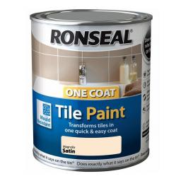 Ronseal One Coat Tile Paint 750ml - Magnolia Satin