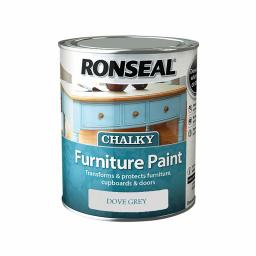 Ronseal Chalky Furniture Paint 750ml - Dove Grey