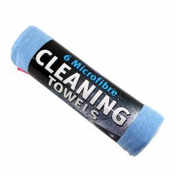 Kent Car Care Microfibre Cleaning Towels 300mm x 400mm - Pack of 6