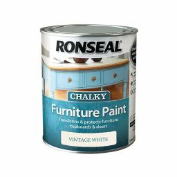 Ronseal Chalky Furniture Paint 750ml - Vintage White