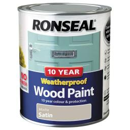 Ronseal Weatherproof No Primer Exterior Wood Paint 750ml - Mocha Satin
