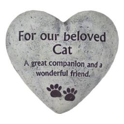 Roots & Shoots Garden Memorial Heart Stone For Cat