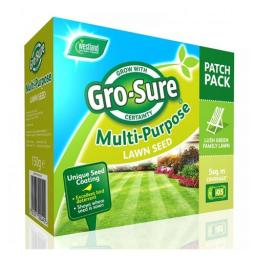 Westland Gro-Sure Multi-Purpose lawn Seed Patch Pack 150g 5sqm