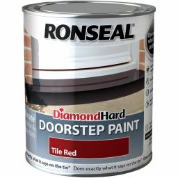 Ronseal Diamond Hard Doorstep Paint 750ml - Red