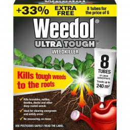Weedol Ultra Tough Weedkiller Tubes 33% Free 8 Tubes for The Price Of 6