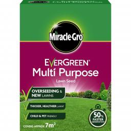 Miracle-Gro Evergreen Multi Purpose Lawn Seed 210g - 1.68kg/ 7m2 - 56m2