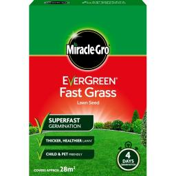 Miracle-Gro Evergreen Fast Grass Lawn Seed 28m2 Coverage 840G