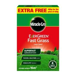 Miracle-Gro Evergreen Fast Grass Lawn Seed 16m2 Coverage 480G